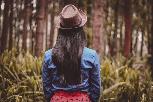 Fashion, Forest, Girl, Person, Trees