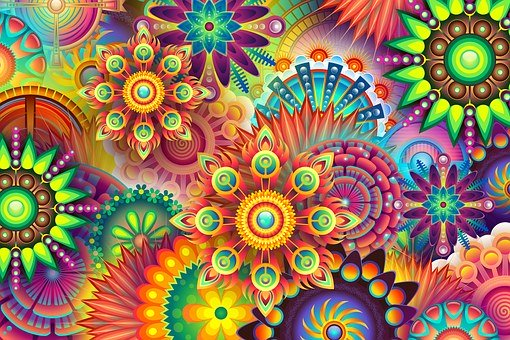 Psychedelic, Colorful, Colors