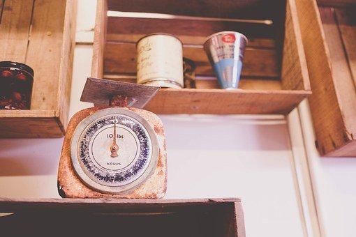 Scale, Kitchen, Shelves, Measure