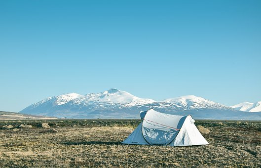 Camp, Mountains, Iceland, Scenic, View