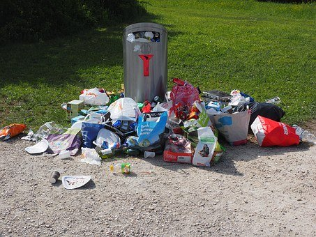 Garbage Can, Garbage, Pollution, Waste