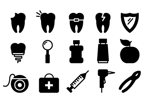 Dental Icons, Dentist, Tooth, Dental