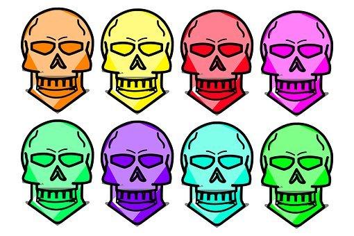 Skull, Colour, Brain, Mexico, Mexican