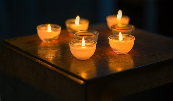 Background, Candles, Tea Lights