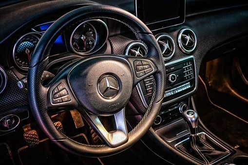 Dashboard, Car, Vehicle, Mercedes Benz